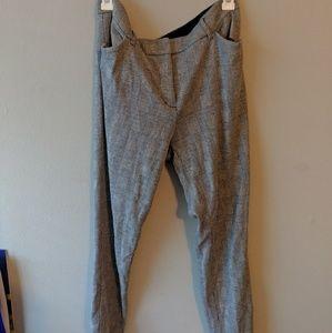 Plaid Stretch Dress Pants